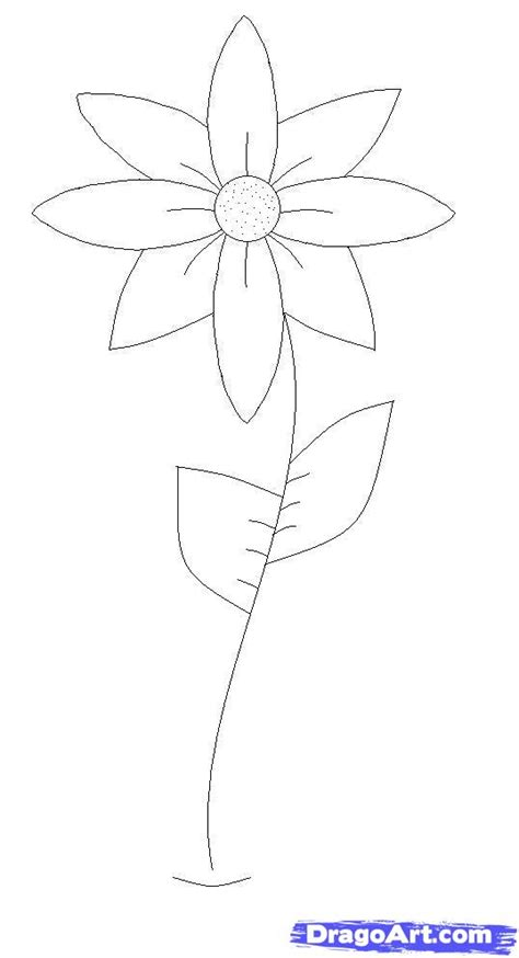 Easy To Draw Flowers by How To Draw A Flower Easy Step By Step Step By Step