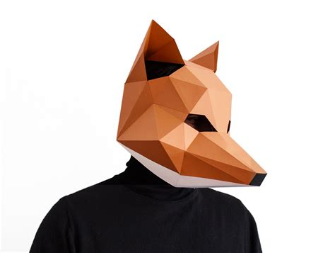 Origami Fox Mask - make your own fox mask animal fantastic by