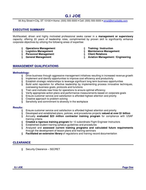 11 summary examples for resume way cross camp