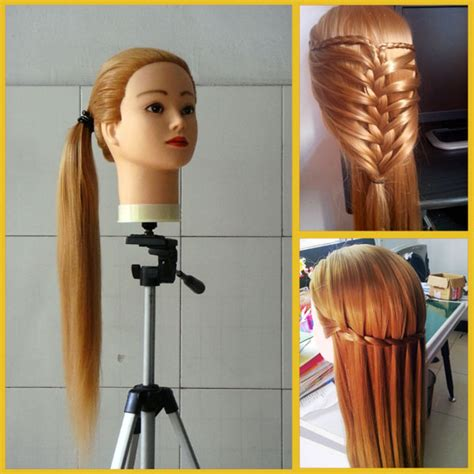 hairstyles to do on manikin mannequin head with hair 20inch brown hair styling