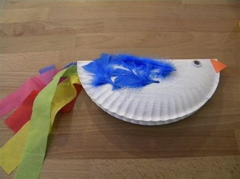 Paper Bird Craft - paper plate bird craft another creation craft for