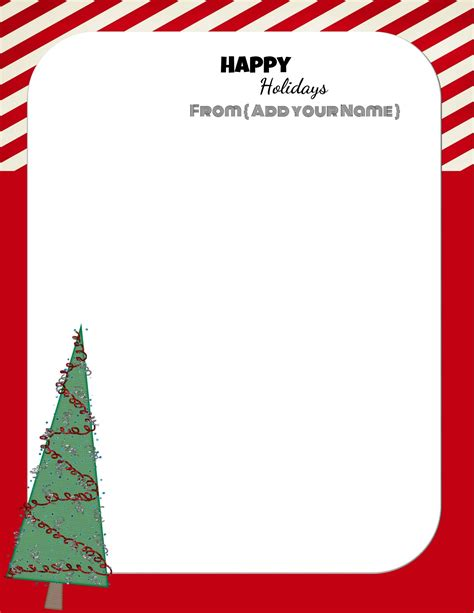 christmas stationery downloads free personalized christmas stationery