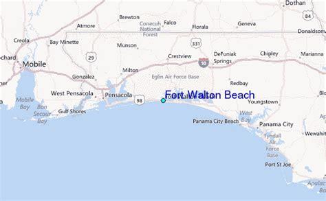 ft walton florida map fort walton tide station location guide