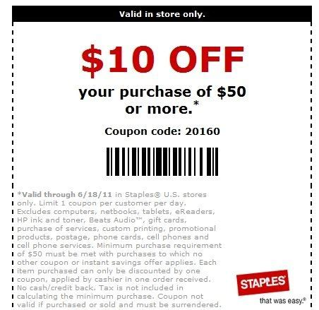 Staples Business Cards Coupon