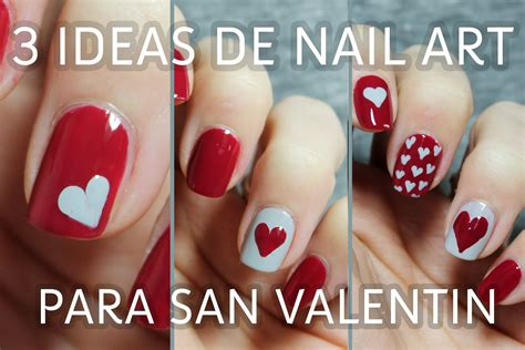 imagenes de uñas decoradas san valentin 3 ideas para decorar tus u 241 as de san valent 237 n en menos de