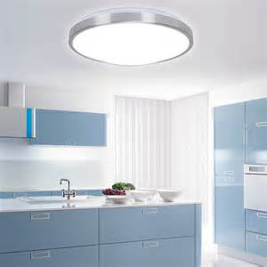 Led Kitchen Light Fixture 2015 Modern Aluminum Acryl Silver Border Led Ceiling Lighting Fixtures Indoor Bedroom Kitchen
