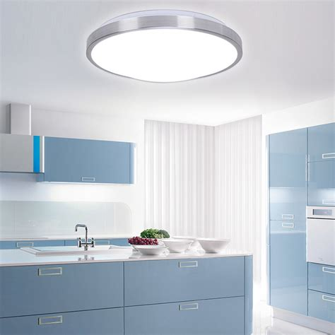 Led Ceiling Lights For Kitchen 2015 Modern Aluminum Acryl Silver Border Led Ceiling Lighting Fixtures Indoor Bedroom Kitchen