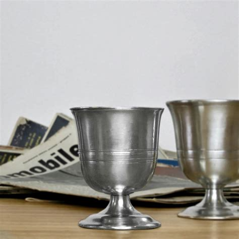 pewter barware pewter goblet italian pewter drinkware