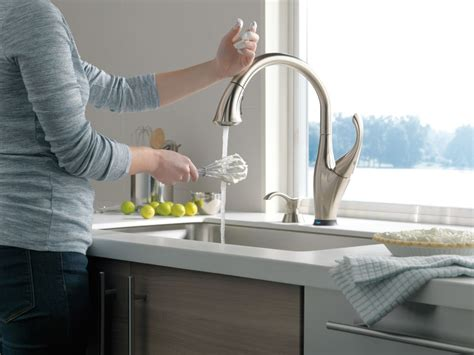 touchless kitchen faucet reviews delta faucet 9192tsddst faucet com 9192t sd dst in chrome by delta