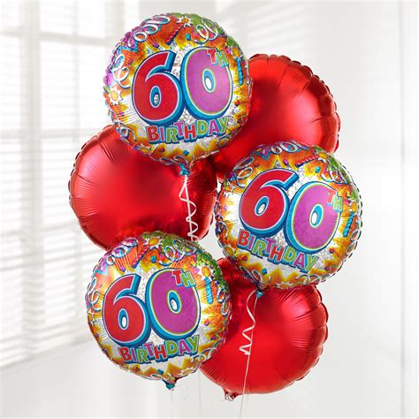 60th Birthday Bouquet With Frooties 60th Birthday Balloon Bouquet