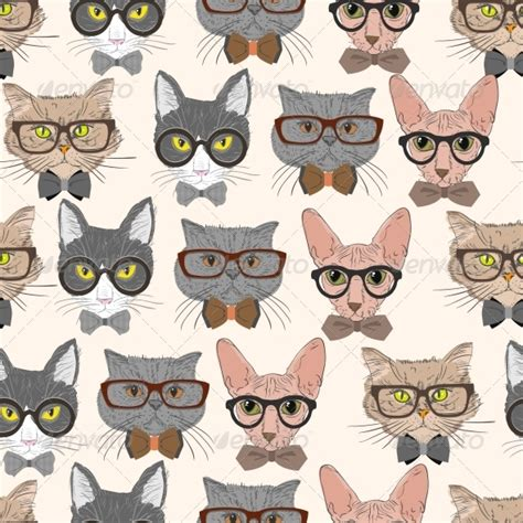 cat pattern pinterest hipster cat pattern by macrovector graphicriver