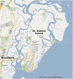 st simons island map real escapes properties st simons island vacation