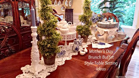 table setting for buffet style s day brunch buffet style table setting ideas
