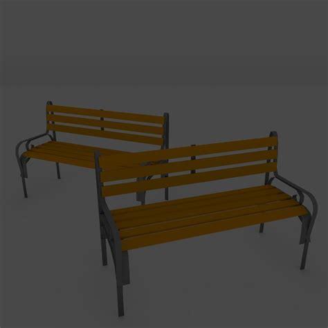 bench 3d model 3d model low poly bench vr ar low poly obj 3ds fbx