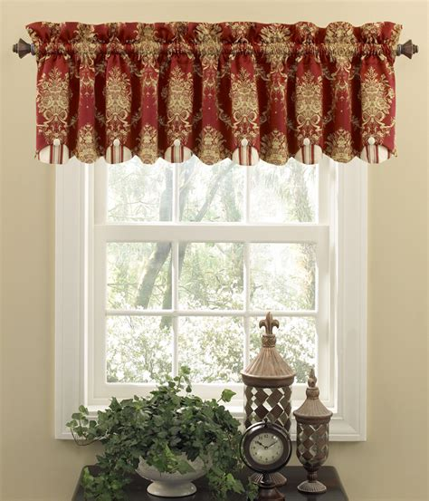 waverly curtains and valances rose momento merlot chatham valance waverly waverly