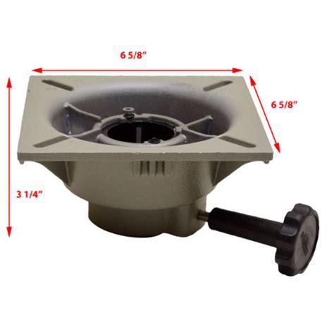boat seat mount base springfield boat seat swivel trac lock 3 3100031 1
