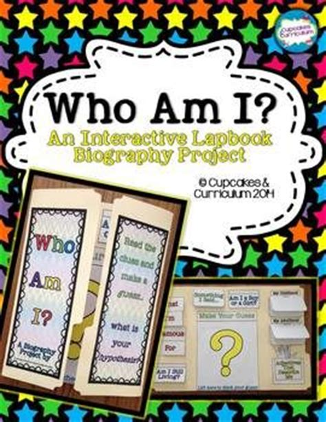 creative biography ideas biography lapbook project who am i other and biography