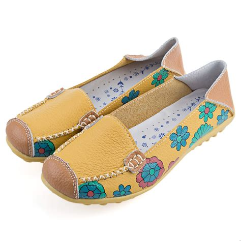 floral flat shoes new ballet flats casual floral print patchwork