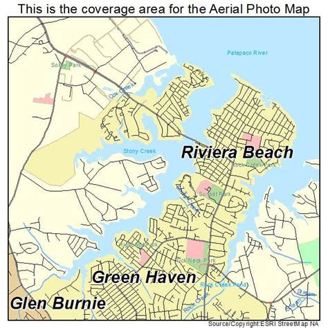 maryland map beaches aerial photography map of riviera md maryland