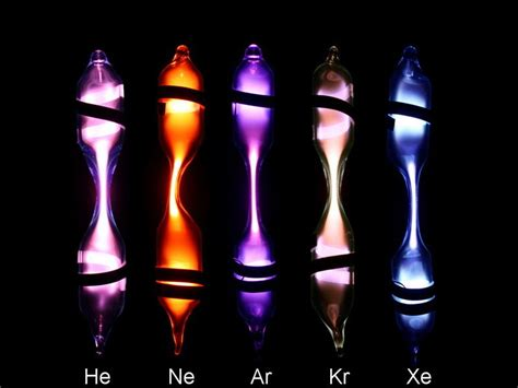 complete set of noble gases micro spectrum discharge