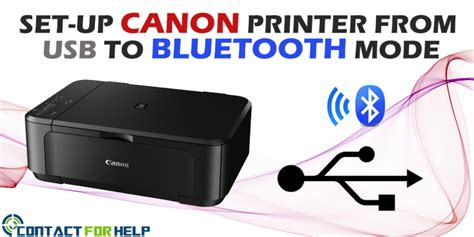 Printer Bluetooth Canon how to set up canon printer from usb to bluetooth mode