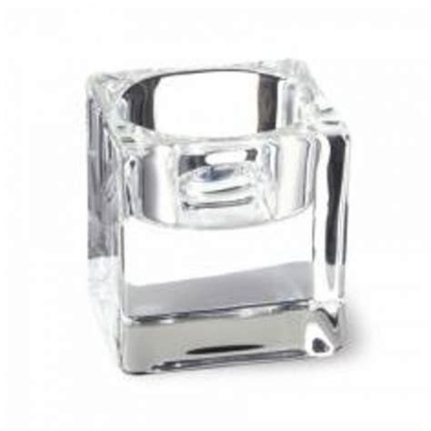 Square Glass Candle Holders by Bolsius Candles Square Glass Tealight Holder