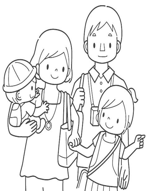 juegos de familia para colorear imprimir y pintar familia para colorear