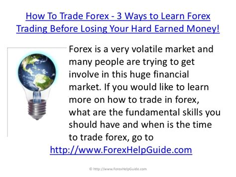 8 Ways To Learn To Your by How To Trade In Forex 3 Ways To Learn Forex Trading Before