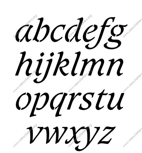 printable italic letters basic bold italic uppercase lowercase letter stencils a