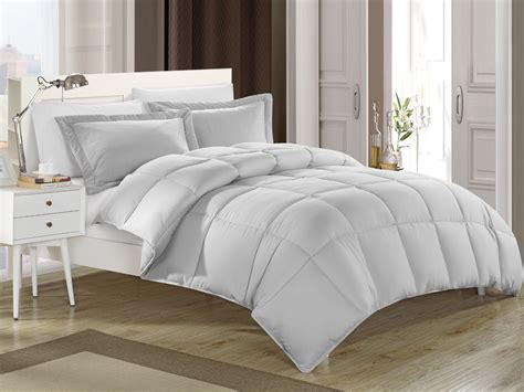 full comforters gray down alternative comforter set