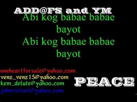 bisaya version lyrics nobody bisaya version with lyrics