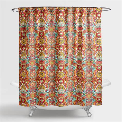 flowered shower curtains bettina floral shower curtain world market
