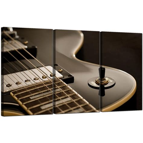 guitar bedroom guitar canvas prints uk set of 3 for your teenage boys bedroom