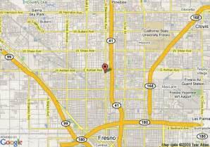 map of fresno days inn fresno