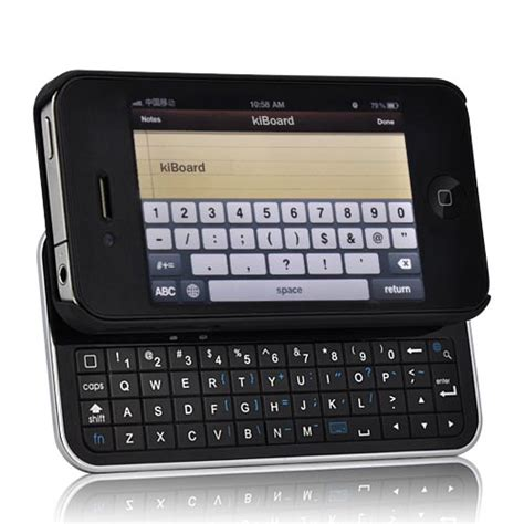 jump for qwerty kiboard iphone 4 with slide out bluetooth keyboard