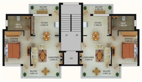 Home Design 3d 2bhk by Typical House Floor Plan Dimensions Home Mansion