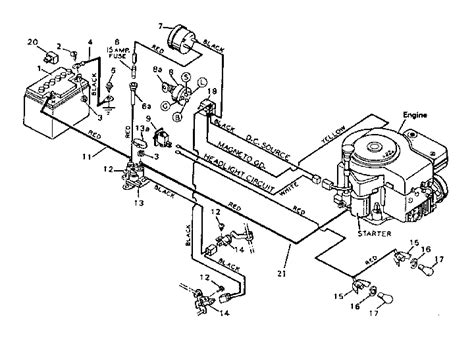wiring diagram craftsman mower parts list wiring get