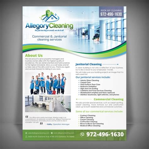 flyer design needed printable flyer needed for commercial cleaning company