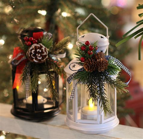 8 inch black metal christmas lantern with holiday decor and tealight buy now