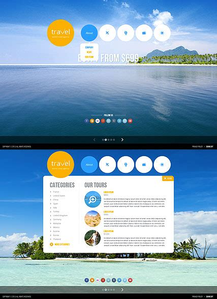 Travel Agency Html5 Template Best Website Templates Html5 Animated Website Templates