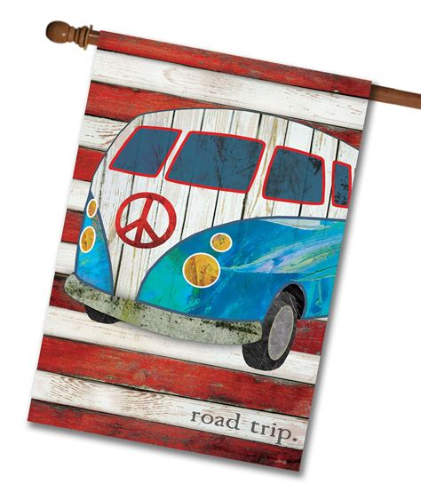 decorative flags for the home road trip house flag 28 x 40 custom printed