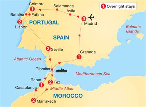 europe tours spain morocco portugal europe contiki spain portugal morocco