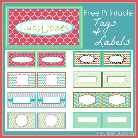 printable labels and tags free printable calling cards tags and labels