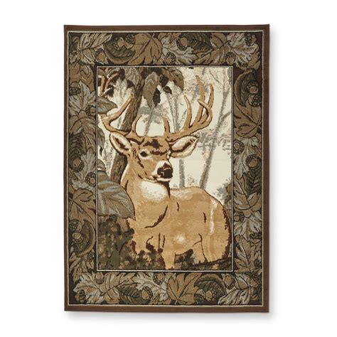 deer area rug united weavers deer camo area rug 669842 rugs at sportsman s guide