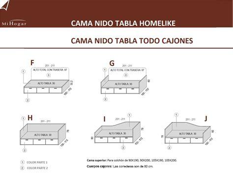 cama nido tabla homelike muebles mi hogar
