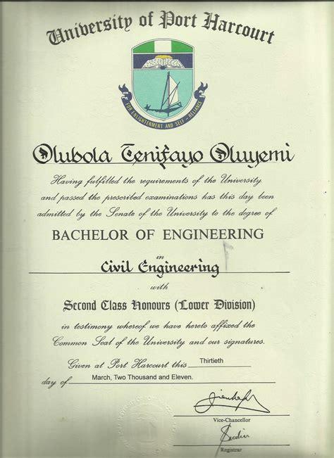 Civil Engineering Mba Degree by Olubola Oluyemi Bayt