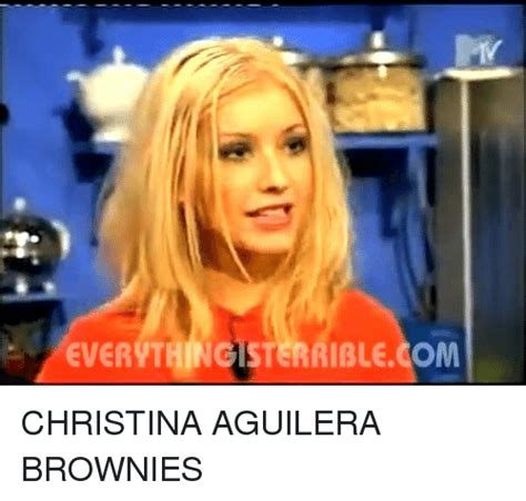Christina Aguilera Meme - ever nthingisterriblecom christina aguilera brownies