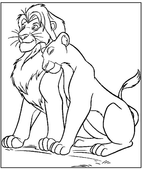 lion king 2 kovu coloring pages free coloring pages of kovu the lion king 2