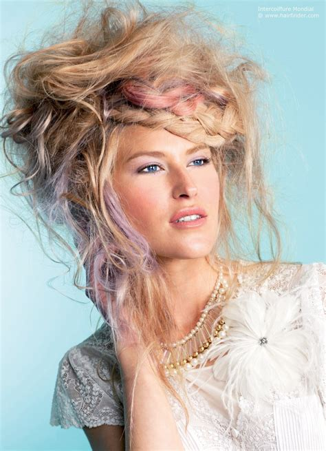 country hairstyles untamed and pink hair with country braids