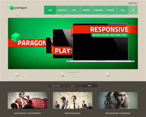paragon parallax wordpress template themeshaker com